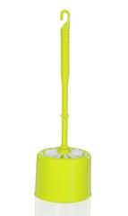 Plastic green toilet brush