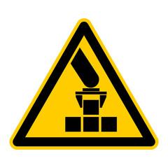 Symbol Roboterarm mit Greifer und Werkstück rws4