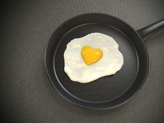 Huevo en Forma de Corazón