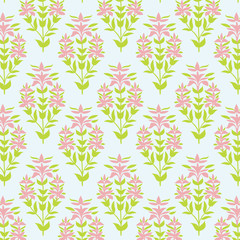 Seamless floral texture. Background with lily