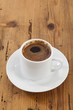 turkish coffee on wood