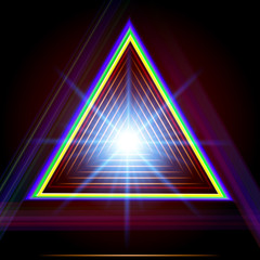Abstract triangle techno background.