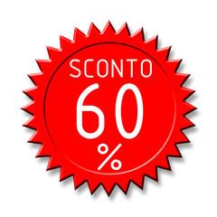 Bollino sconto2 60%