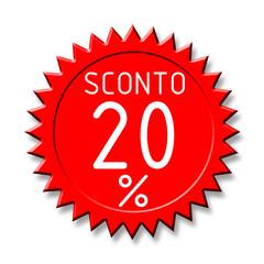 Bollino sconto2 20%