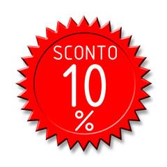 Bollino sconto2 10%