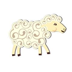 Cartoon sheep character