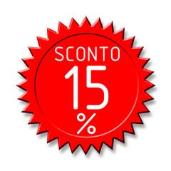 Bollino sconto2 15%