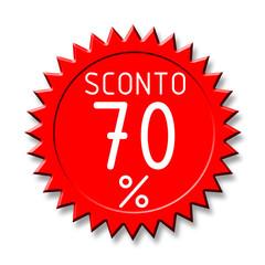 Bollino sconto2 70%