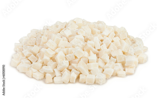 coconut candied cubes heap