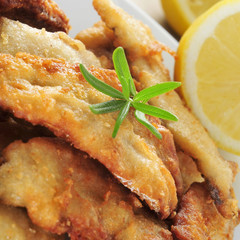 spanish boquerones fritos, battered and fried anchovies typical