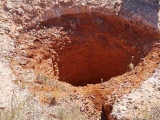 An opal mine in Coober Pedy in Australia