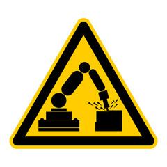 Symbol Warnung vor Bearbeitungsroboter Industrieroboter rws5