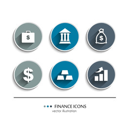 Finance icons. Vector illustration.
