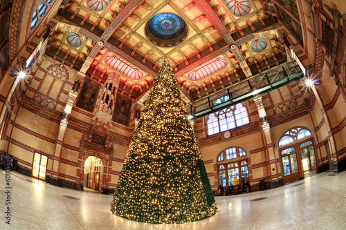Christmas tree at Railway Station in Groningen, NEtherlands