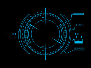 Futuristic user interface HUD 01