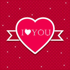 Valentine Day love heart Card template