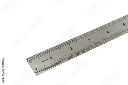 metal ruler with inch scale