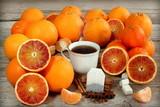 Tè nero e arance rosse