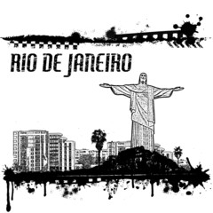 Grunge Rio de Janeiro poster