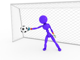 Goalkeeper catches a soccer ball #4