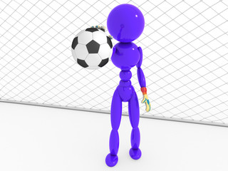 Goalkeeper catches a soccer ball  #3