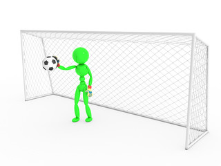 Goalkeeper catches a soccer ball #2