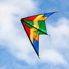 Nice kite flying over blue sky