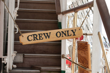 sign of crew only