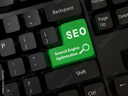 Keyboard with a word SEO