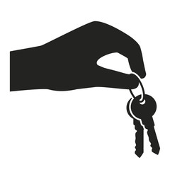 hand holding and giving keys icon. real estate template