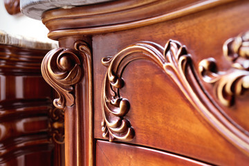Detail of closed drawers