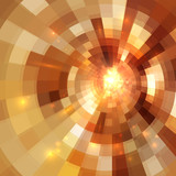 Golden shining vector mosaic abstract background