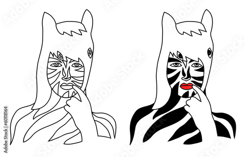 face zebra illustration