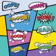 comic template Vector Pop-Art