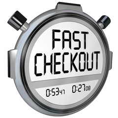 Fast Checkout Store Buy Purchase Quick Service Stopwatch Timer