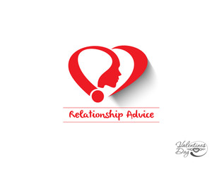 relationship advice icon, symbol vector illustration.