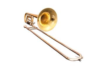 Trombone isolated on white