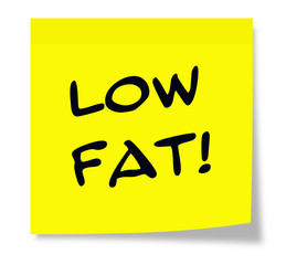 Low Fat Yellow Sticky Note