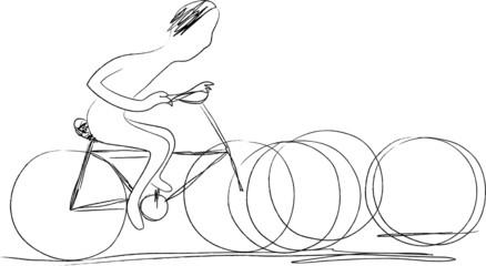 bike - go green illustration