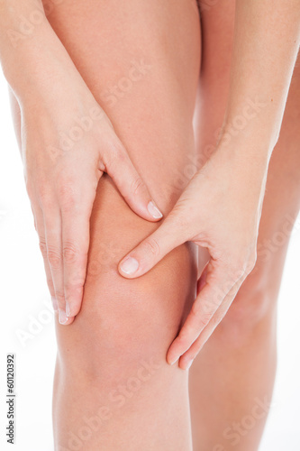 Woman Heaving Leg Injury