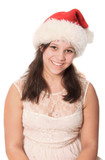 Pretty Christmas preteen girl