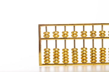 golden abacus isolate