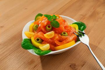 fresh red fish salad