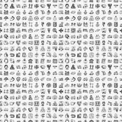 seamless doodle logistics pattern