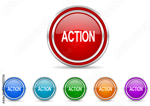 action icon vector set