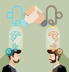 Brainstorming business team vector