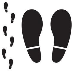 Shoe print vector icon.