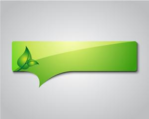eco information sign / logo