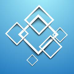 3d rectangle blue design template