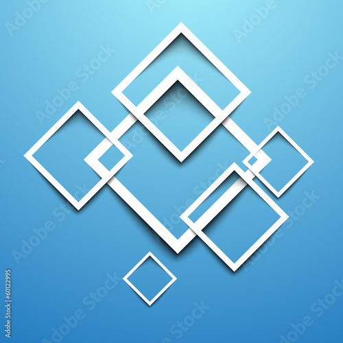 3d rectangle blue design template